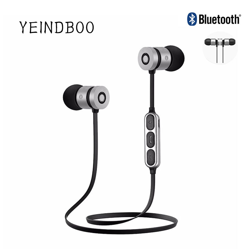 60ccafb956c YEINDBOO Super Bass Wireless Earphones With Mic Magnetic in ear ...